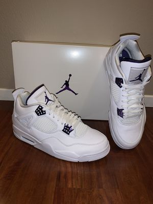 "Nike Air Jordan 4 Retro ""Purple Metallic"" Size 12 IN HAND BRAND NEW for Sale in Las Vegas, NV"