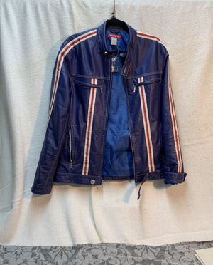 """P.O.V 100% genuine leather """" Ducati"""" style racing jacket pristine condition never worn si42 slim very sleek beautiful colors European made for Sale in Cambridge, MA"""