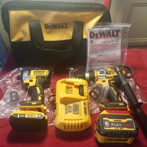 Dewalt Flex Volt Advantage Drill Kit Cost $399+Tax At Store Here All For $340 No Tax Cash Only Pick Up Only for Sale in Beaumont, CA