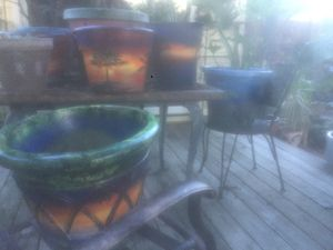 Custom painted flower pots plants available as well for Sale in Virginia Beach, VA