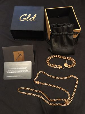 GLD Cuban Link Chain & Bracelet for Sale in Philadelphia, PA
