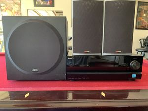2 polk audio rt14 speakers 1 polk audio psw202 subwoofer and 1 Sony STR-DN1000 for Sale in Fremont, CA