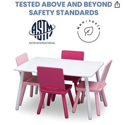 White Toddler Table With 4 Pink Chairs, $50 for Sale in Great Neck,  NY