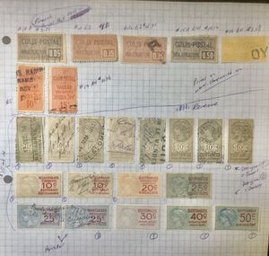 Obscure Stamps #3 - FRANCE Parcel Post and Revenue Stamps from late 1800's - early 1900's for Sale in Southfield, MI