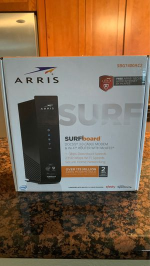 ARRIS Surfboard DOCSIS 3.0 Cable Modem & Wi Fi Router for Sale in Fort Lauderdale, FL