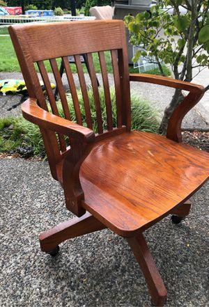 Antique wood office chair for Sale in Sumner, WA
