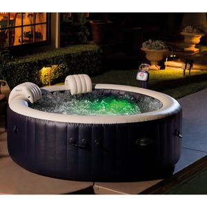 Inflatable hot tub - Intex 4-person outdoor spa with bubbles and water heater; has warranty; free accessories, filters, and chemicals ($150 value) for Sale in San Francisco, CA