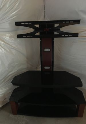 Flatscreen TV stand with shelves for Sale in Fort Collins, CO