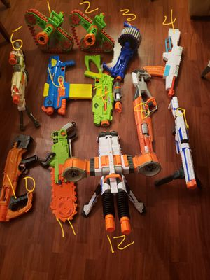 NERF GUNS AND WELL OVER 500 BRAND NEW ROUNDS for Sale in Arlington, TX