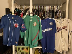 Soccer and baseball sports jerseys S-M for Sale in Dana Point, CA