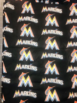 Marlins cotton fabric for Sale in Fort Mill, SC