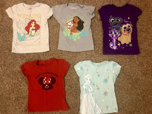 Disney Girls Shirts Size 5T for Sale in El Monte, CA