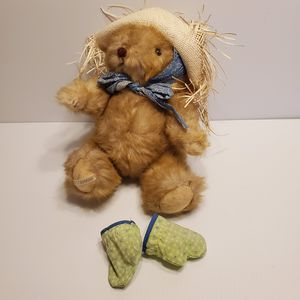 Vintage 1986 Gorham Bear Marigold Maybear Gardening Bear with hat and gloves. New, with tags for Sale in San Jose, CA