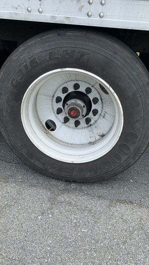 Trailer or truck tires 24.5 with rings for Sale in Wernersville, PA