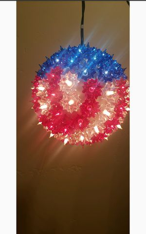 "6""Red, White & blue light sphere for Sale in Nipomo, CA"
