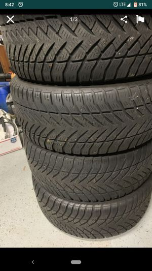 "P235/55/r17 17""black steel rims steelies Goodyear tires for Sale in Richmond, VA"