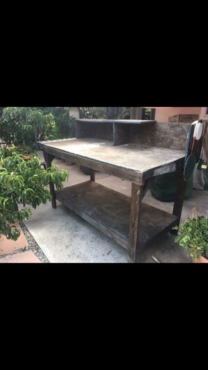 Potting bench or woodworking table for Sale in Fresno, CA