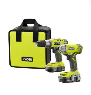 Ryobi 18V Lithium ion Drill/Driver & Impact Driver Kit NEW with Battery, Charger and Bag for Sale in Los Alamitos, CA