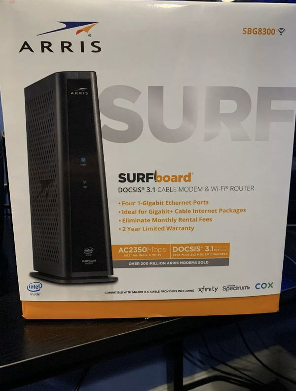 Arris surf sbg8300 cable modem/WiFi router