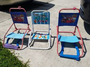 3 kids beach chairs/lounge chairs for Sale in Lake Worth, FL