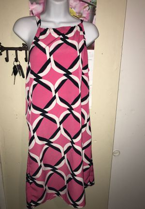 Crown & Ivy spaghetti strap pink,white & black dress size small for Sale in Riverview, FL