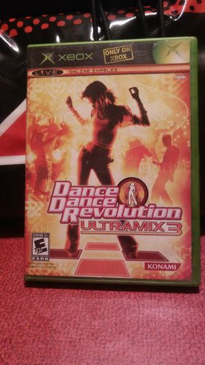 Xbox Dance, Dance, Revolution Ultra mix 3 game with dance pad for Sale in Brainerd, MN