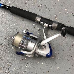 Rod/Reel Shakespeare SP50A Reel & Shakespeare CMFSP70-SM Catch More Fish Rod 10012206-4 for Sale in Tampa, FL