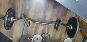 Curl bicep,tricep,deltoid, bar with extended hand grip for different muscle functions for Sale in Miami, FL