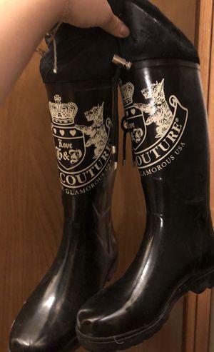 size 7 juicy couture rain boots for Sale in Allison Park, PA