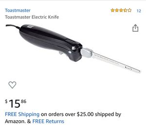 Toastmaster electric knife for Sale in Nashville, TN