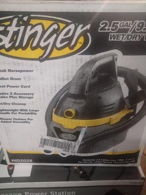 Stinger 2.5 gallon dry/wet vacuum new for Sale in Moreno Valley, CA