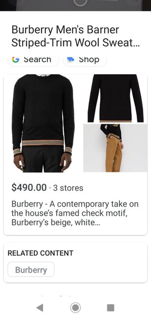 Burberry XL Men's for Sale in Victorville, CA