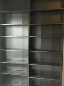 2 Ikea Billy Black Brown Bookshelves for Sale in Beaverton,  OR
