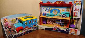 Disney muppet babies schoolhouse and friendship bus playset NEW for Sale in Phoenix, AZ