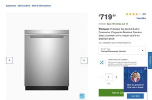 Whirlpool 47-Decibel Top Control Built-In Dishwasher (Fingerprint-Resistant Stainless Steel) for Sale in Gallatin, TN