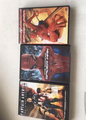 Spider-Man captain America dvds for Sale in Safety Harbor, FL