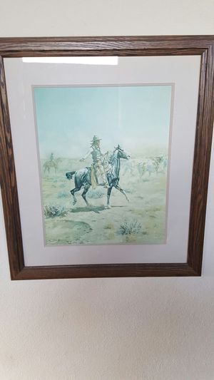 CHARLES M. RUSSELL - THROUGH THE ALKALI - WESTERN PRINT for Sale in Payson, AZ