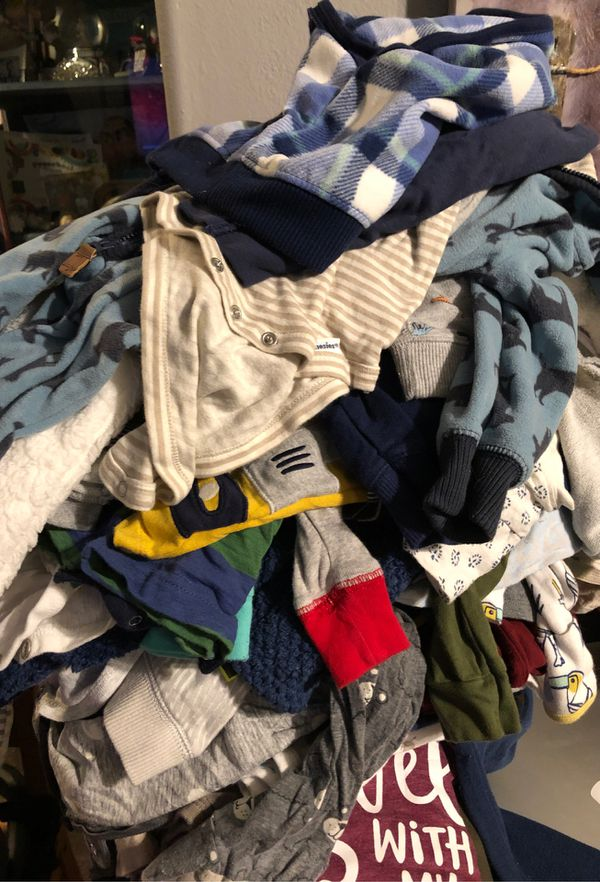 Lots of baby boy clothes