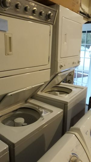 Washer and dryer unit stackable excellent condition 4months warranty for Sale in Halethorpe, MD