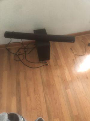 Polk audio sound bar and wireless sub for Sale in Camden, NJ