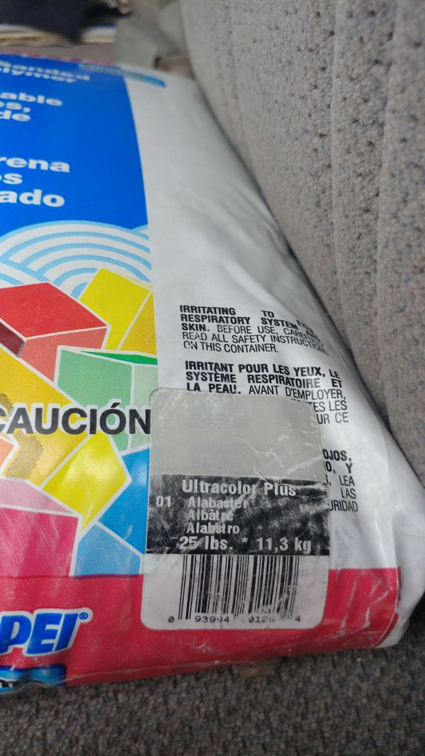 Mapei Ultracolor Plus 25 lb Grout, Alabaster for Sale in Lake Elsinore, CA  - OfferUp