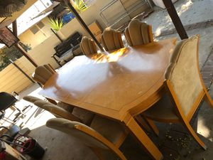Dining table 8 chair for Sale in Fontana, CA