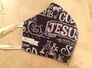 Face mask - religious sentiments, adjustable and reversible for Sale in DeSoto, TX