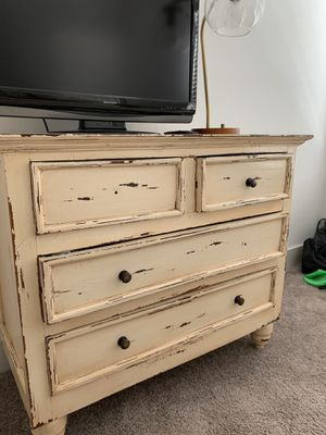 Cream distressed dresser for Sale in Nashville, TN