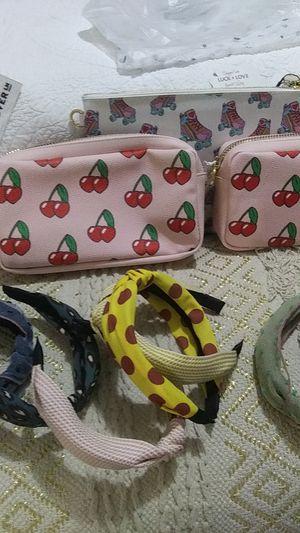 NWT! Stoney Clover Lane Make Up Bag amd headbands for Sale in Houston, TX
