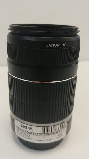 Canon lens efs 55-250mm macro for Sale in Port St. Lucie, FL