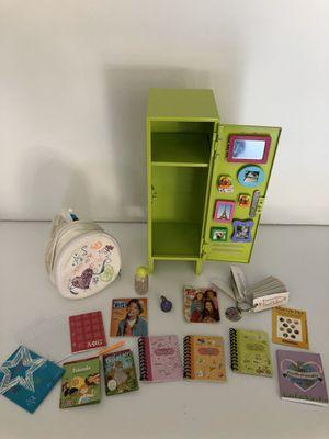 American girl doll school backpack locker lot for Sale in Surprise, AZ