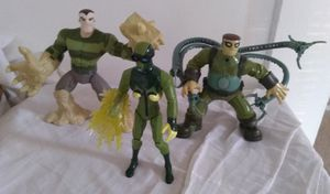 Spectacular Spider-Man Action Figure Lot 2008 Hasbro Electro Sandman Doctor Octopus Marvel Collectible for Sale in Pasadena, CA