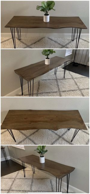6FT x 2FT Solid Wood Rustic Modern Industrial Live Edge Dining Table for Sale in Modesto, CA