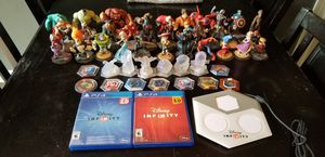 Disney infinity for PS4 games with figures for Sale in Appleton, WI